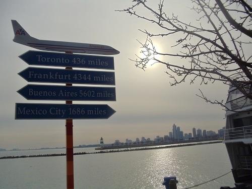 Chicago, Navy Pier, Lake Michigan, travel signage
