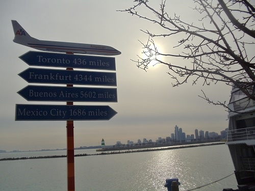 Chicago, Navy Pier, Lake Michigan, travel signage