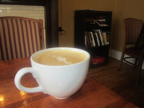 Groove Coffee House, Covington, Kentucky, latte