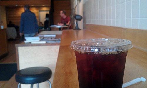 Press Coffee Bar, Dayton, Ohio, Colombia Nodier Andrade iced coffee