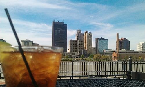 Toledo, Ohio skyline and cocktail