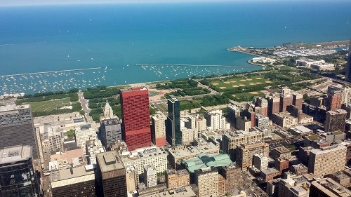 Chicago, up-top Sears Tower, Willis Tower