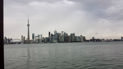 Toronto skyline, Ontario, Canada, Toronto Islands, Lake Ontario