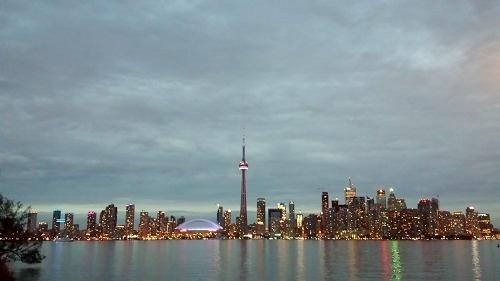 Toronto skyline, Ontario, Canada, Toronto Islands, Lake Ontario