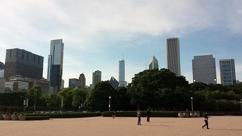 Grant Park, Chicago skyline