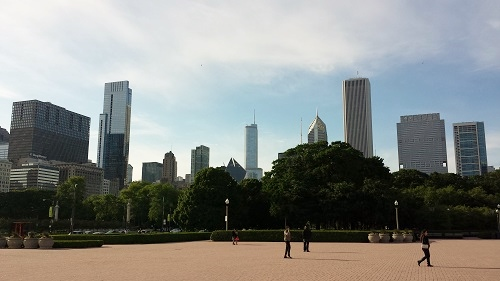 Grant Park, Chicago skyline