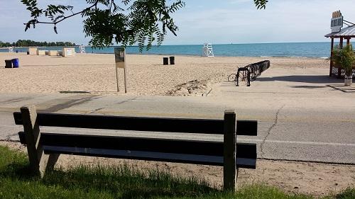 Oak Street Beach Park Bench, Chicago