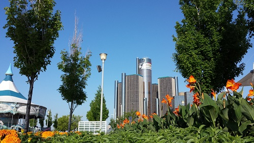 Detroit RiverWalk, GM RenCen, Michigan