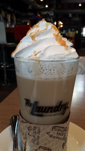 The Laundry, Fenton, Michigan, Salted Caramel Latte