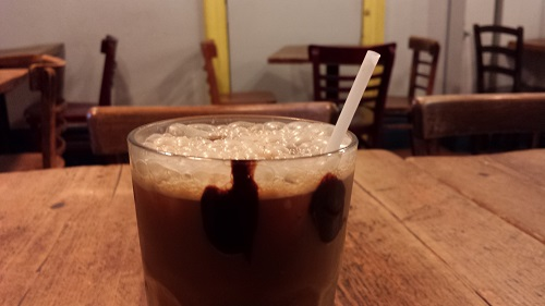 Moonbean Coffee Company, Kensington Market, Toronto, Iced mocha coffee