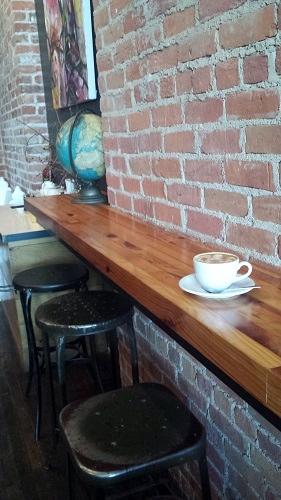 Flat White coffee, Astro Coffee, Corktown, Detroit, Michigan