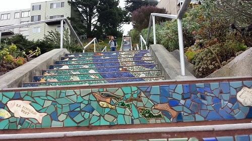The 16th Avenue Tiled Steps Project, San Francisco, California