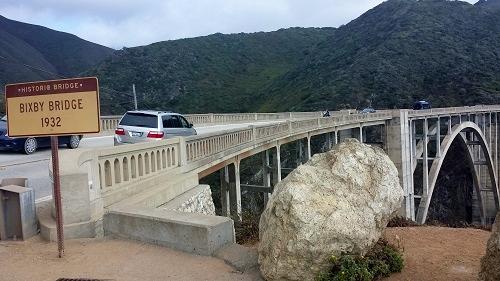 Bixby Bridge, Big Sur, California, historical