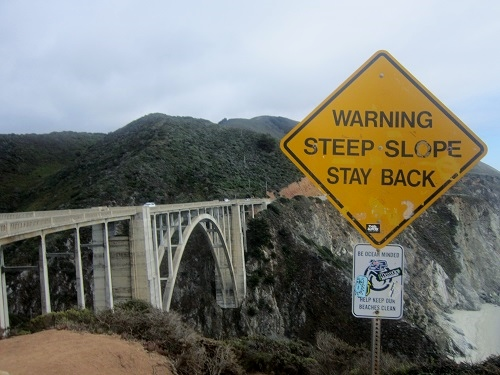 Bixby Bridge, Big Sur, California, historical