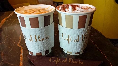 Café al Bacio, Celebrity Solstice, Alaskan cruise, caramel and mocha coffee