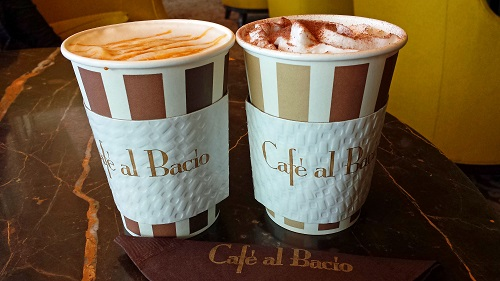 Café al Bacio, Celebrity Solstice, Alaskan cruise, caramel and mocha coffee