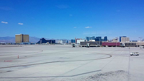 Las Vegas, Nevada skyline from the airport