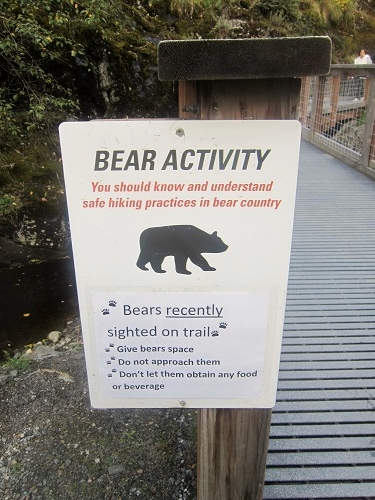 Mendenhall Glacier Visitor Center, Juneau, Alaska, Nugget Falls trail