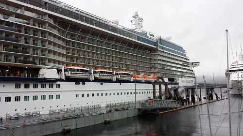 Celebrity Solstice cruise ship in Ketchikan, Alaska