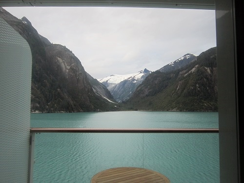 Tracy Arm Fjord in Alaska from concierge room