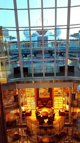 The Library and indoor pool, whirlpool on the Celebrity Solstice cruise ship.