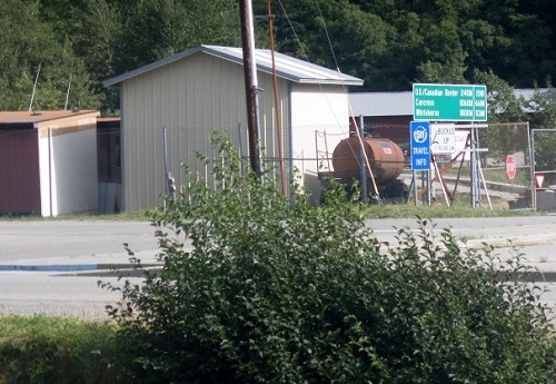 Yukon travel signage in Skagway, Alaska