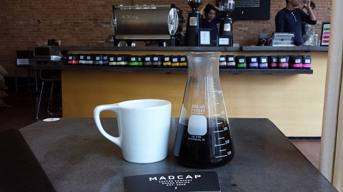 Mad Cap Coffee, Grand Rapids, Michigan, pour over