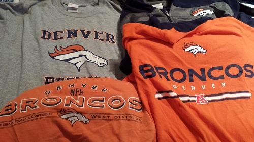 Denver Broncos football gear
