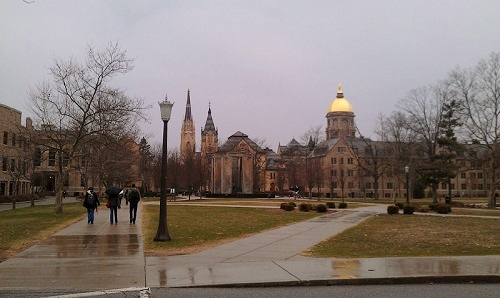 Notre Dame campus, South Bend, Indiana