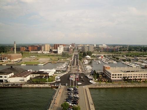Erie, PA downtown skyline