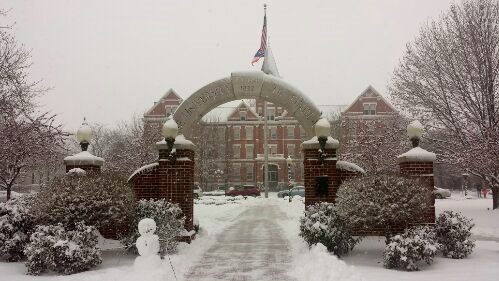 University of Findlay, Ohio, snow, winter