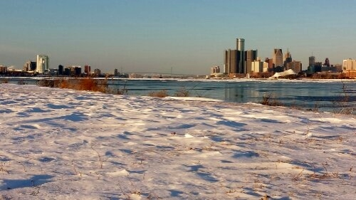 Belle Isle park, Detroit, Michigan, Windsor, Ontario, Canada, winter