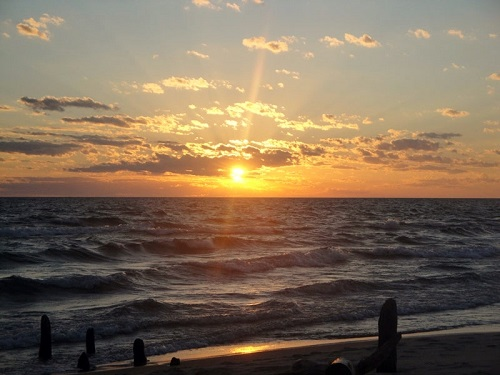 Ludington State Park, Michigan, Lake Michigan, sunset