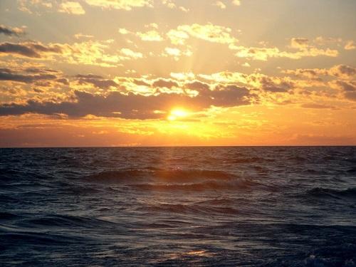 Ludington State Park, Michigan, Lake Michigan, sunset