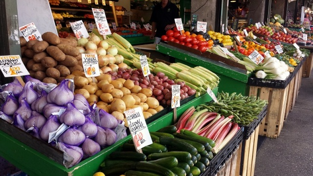 Pike Place Market, Seattle, Washington, vegetables