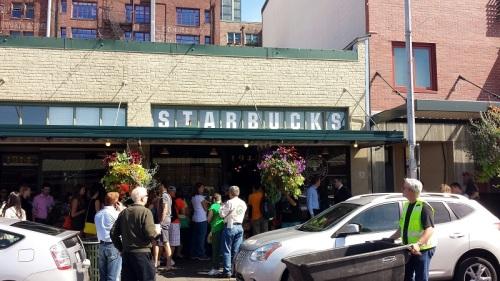 Pike Place Market, Seattle, Washington, original Starbucks, coffee shop