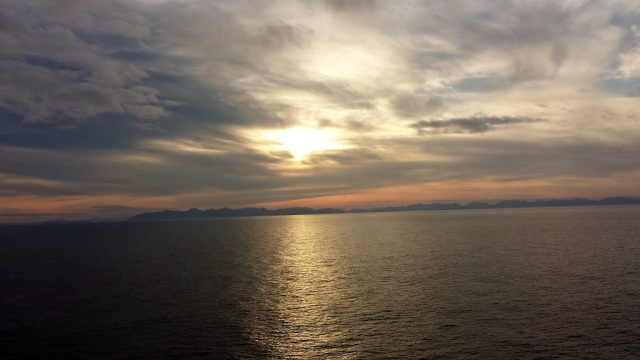 Sunrise, Alaska, Alaskan cruise