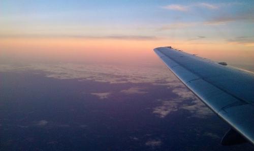 Sunrise, air travel, Atlanta, Georgia