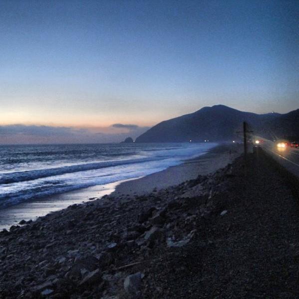 PCH sunset, Malibu, California, road trip