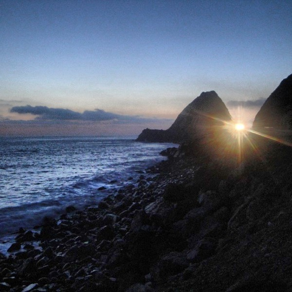 PCH sunset, Malibu, California, road trip