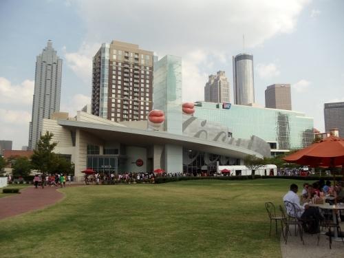 The World of Coca-Cola, Atlanta, ATL, skyline, Pemberton Place