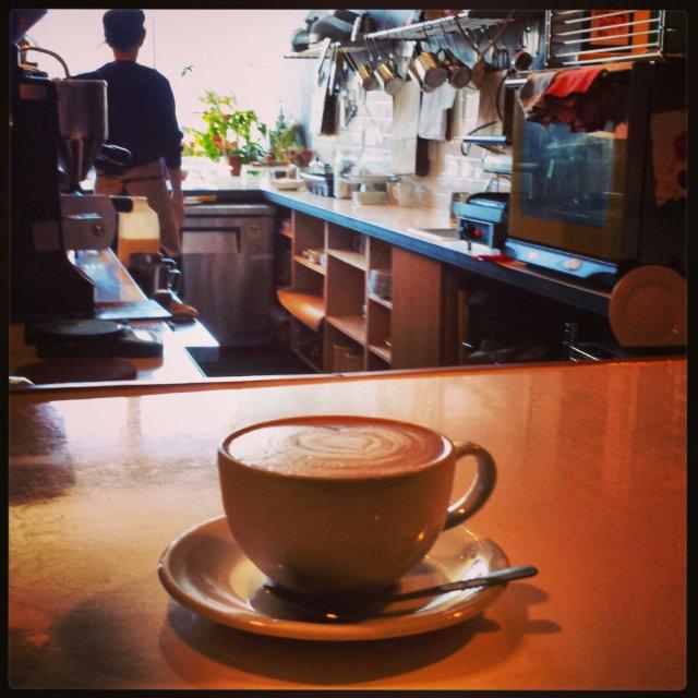 Astro Coffee, Corktown, Detroit, Michigan, latte