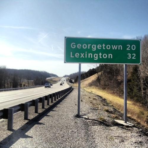 Kentucky, Southbound I-75, roadtrip