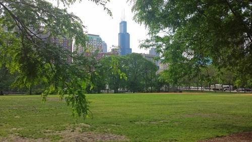 Grant Park, Chicago, skyline