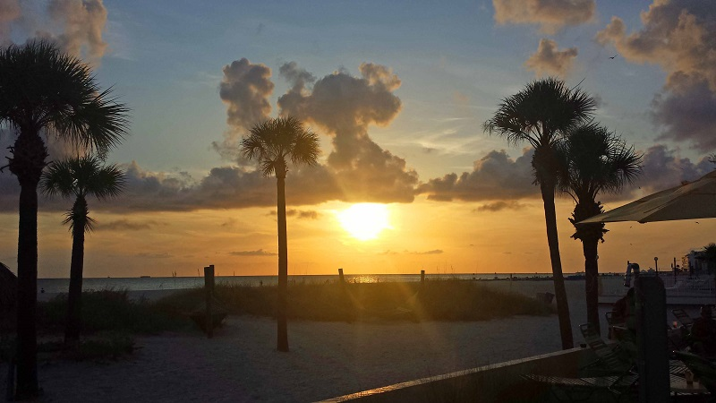 St Pete Beach Florida Gulf Of Mexico Sunset