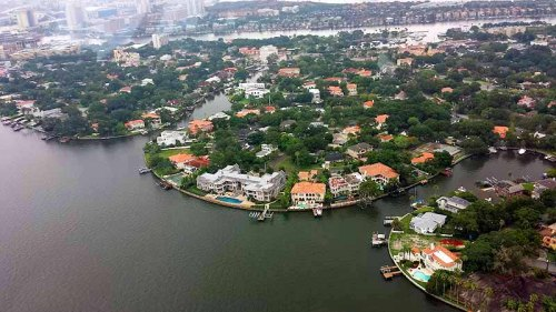 Tampa, Florida, helicopter tour, celebrity home