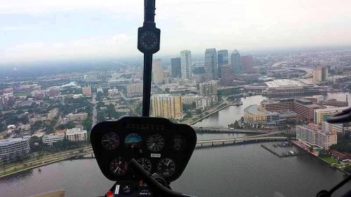 Tampa, Florida, helicopter tour, skyline