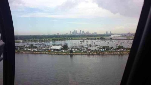 Tampa, Florida, helicopter tour, skyline, harbor