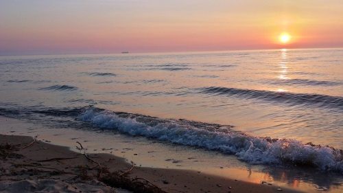 Lake Huron, sunrise, Michigan