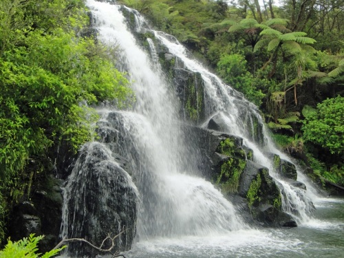 Owharoa Falls, Waihi, New Zealand, waterfall, North Island